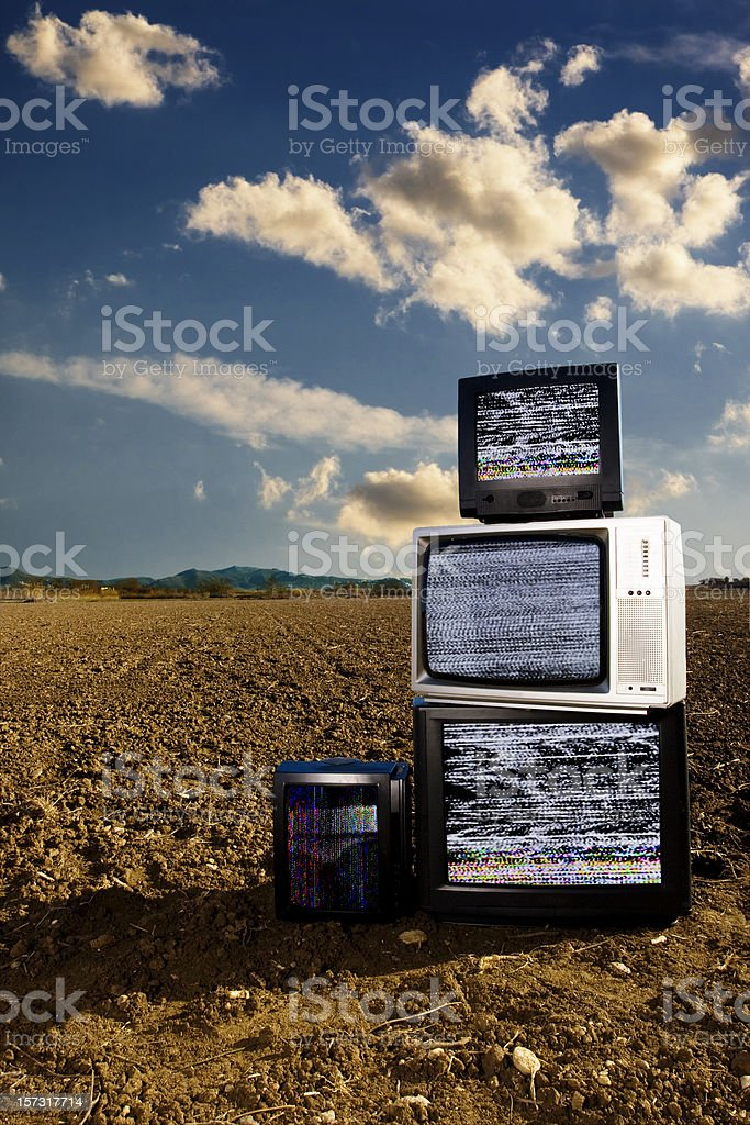Televisions royalty-free stock photo