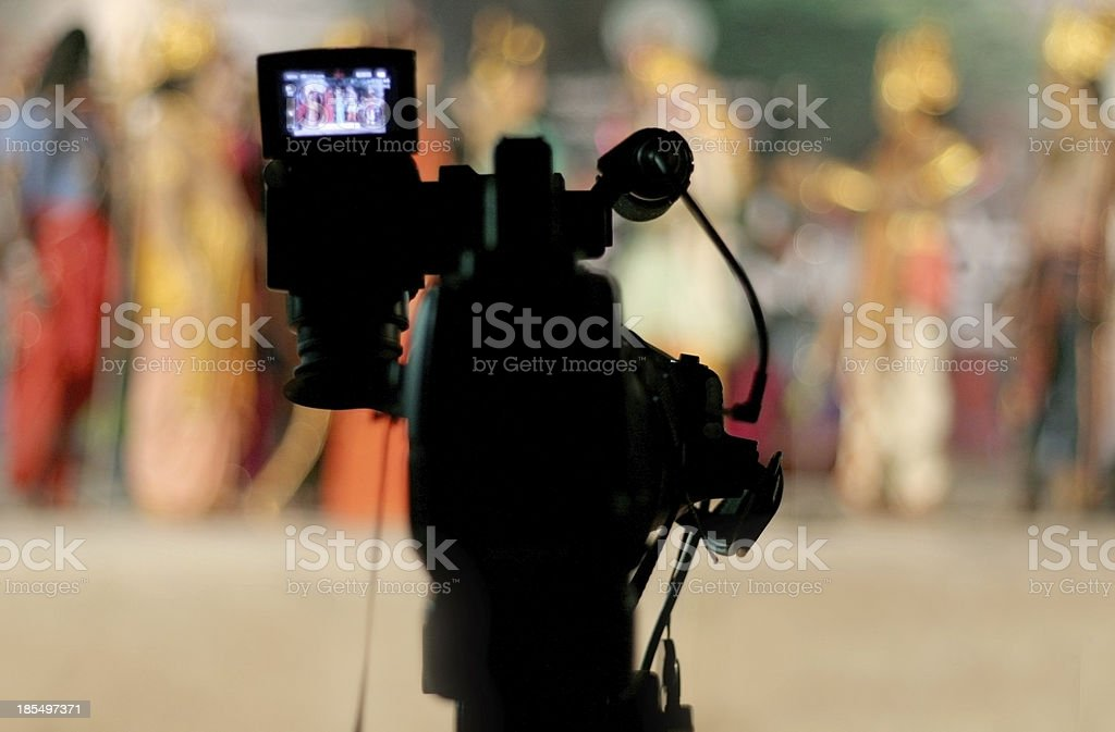 Television/video camera stock photo