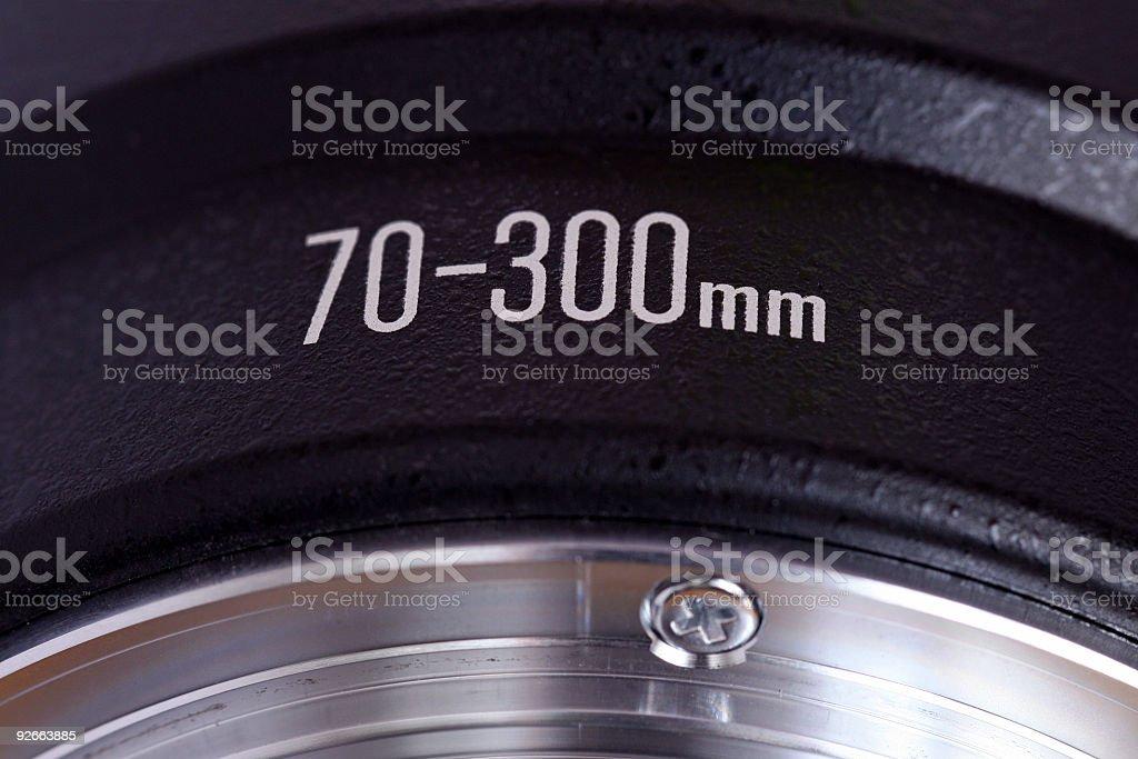 Telezoom lens detail stock photo