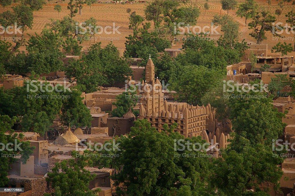 Teli village in Dogon Country, Mali stock photo