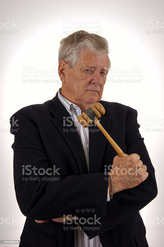 Tell it to the judge royalty-free stock photo