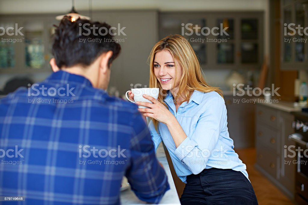 Tell me about your day... stock photo