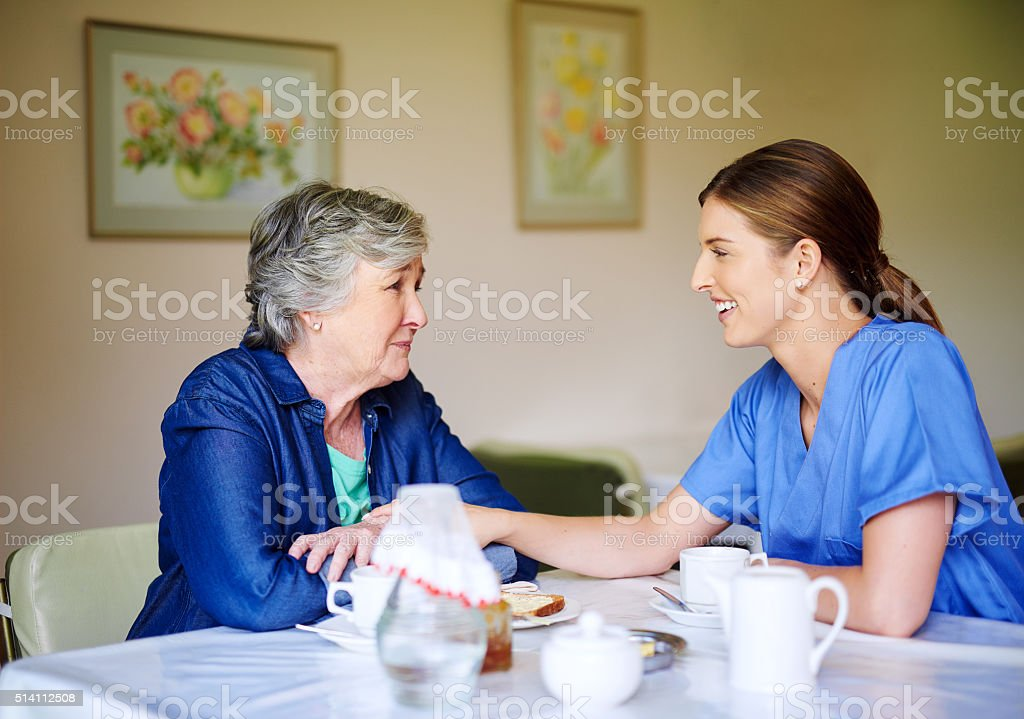 Tell me all about it stock photo