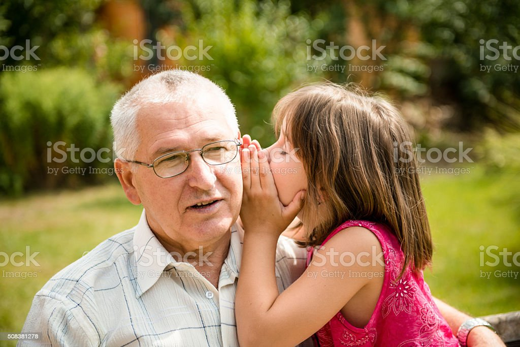 Tell me secret stock photo