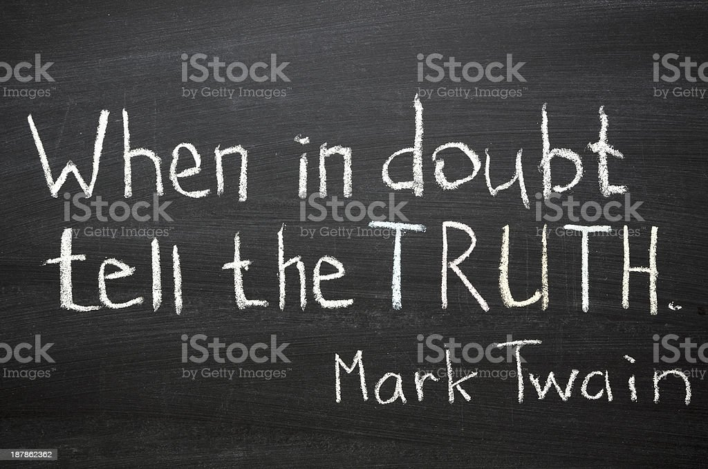 tell the truth stock photo