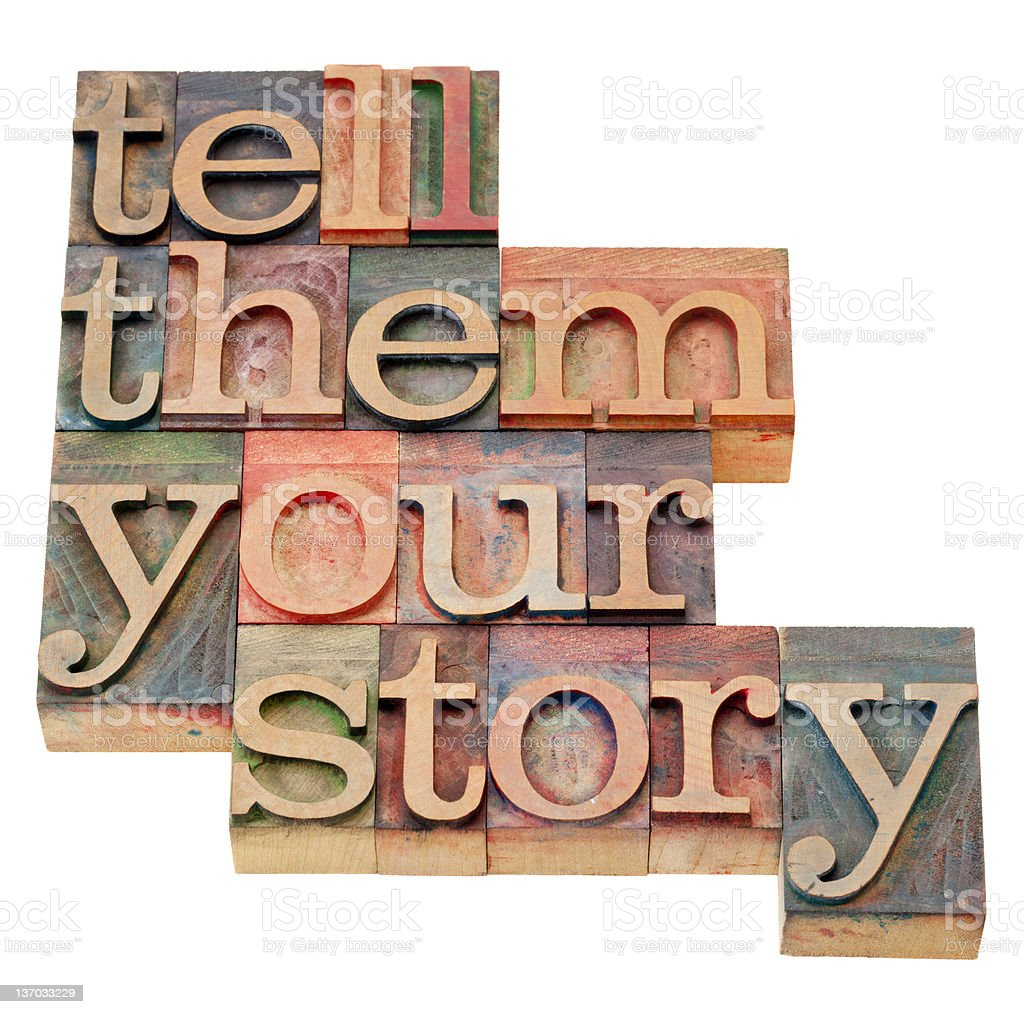 tell them your story royalty-free stock photo