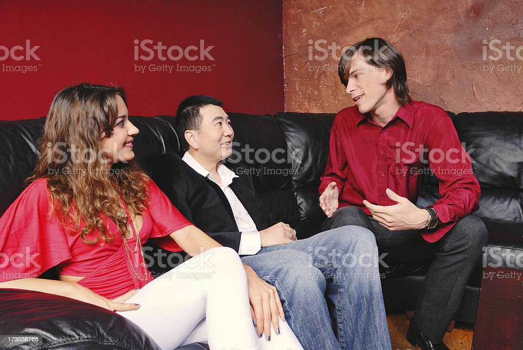 Telling a Story royalty-free stock photo
