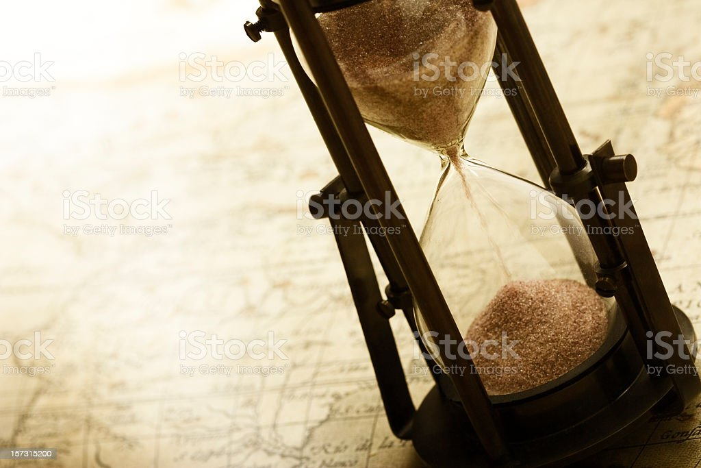 Telling time the old fashioned way stock photo