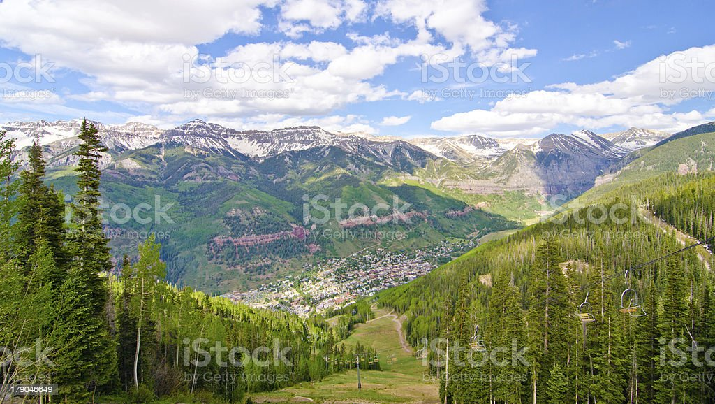 Telluride, Colorado, the Most Beautiful City royalty-free stock photo
