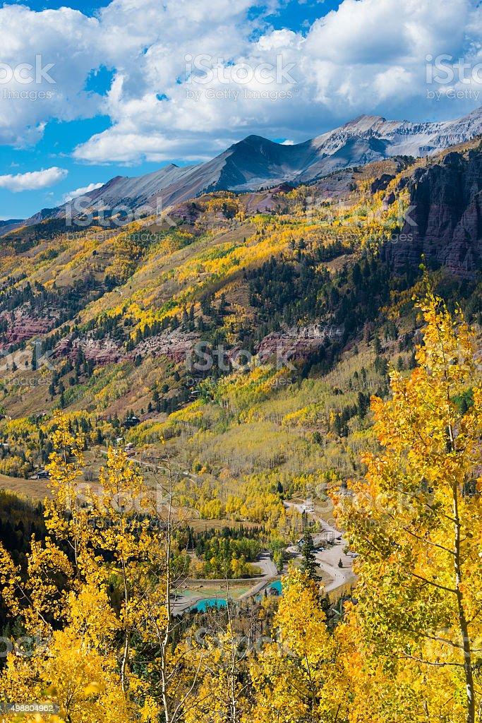 Telluride Fall Colors Colorado Landscape stock photo