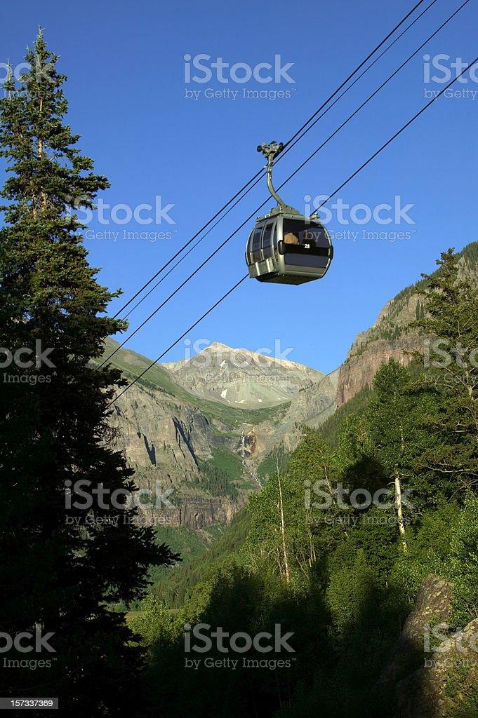 Telluride Gondola in Mountains royalty-free stock photo