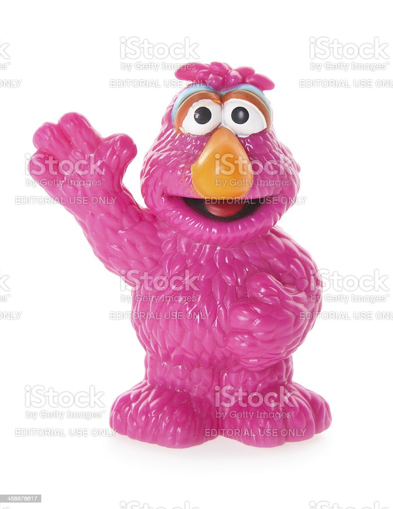 Telly Monster Plastic Toy from Sesame Street stock photo