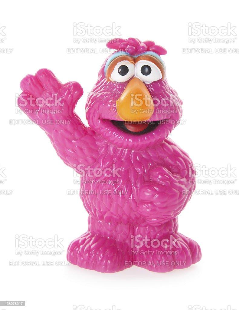 Telly Monster Plastic Toy from Sesame Street stock photo
