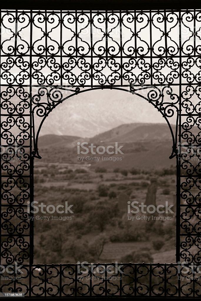 Telouet window stock photo