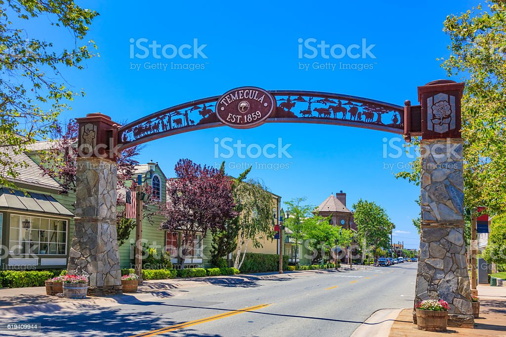 Temecula main street, CA stock photo