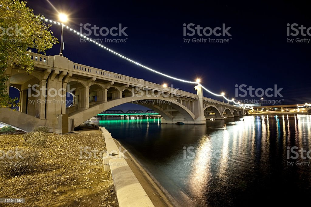 Tempe Arizona Bridge stock photo