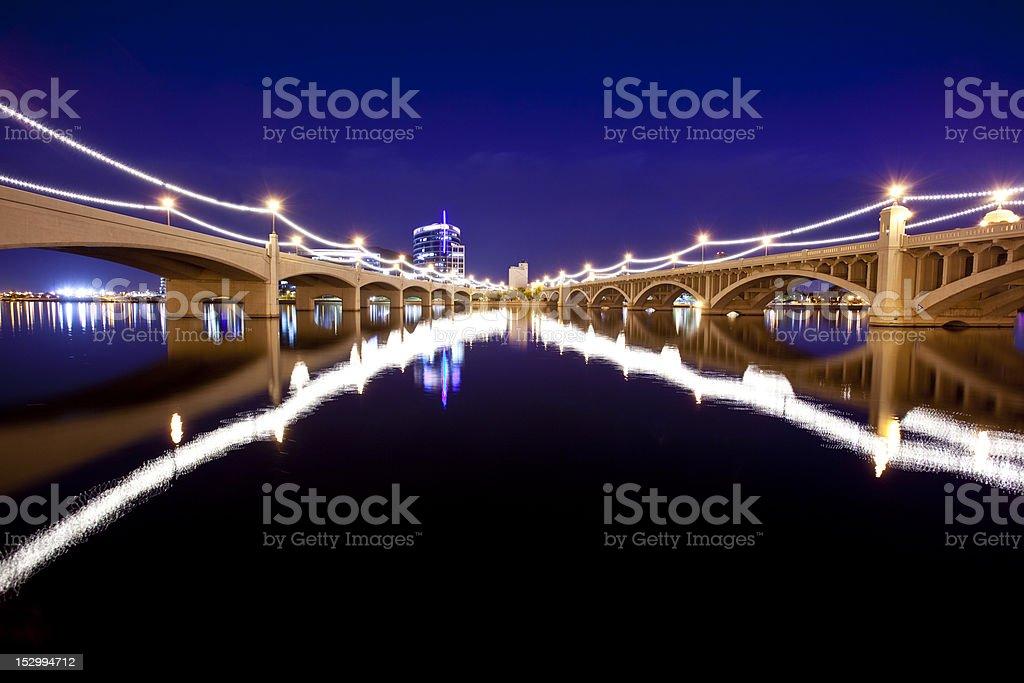 Tempe Bridges stock photo