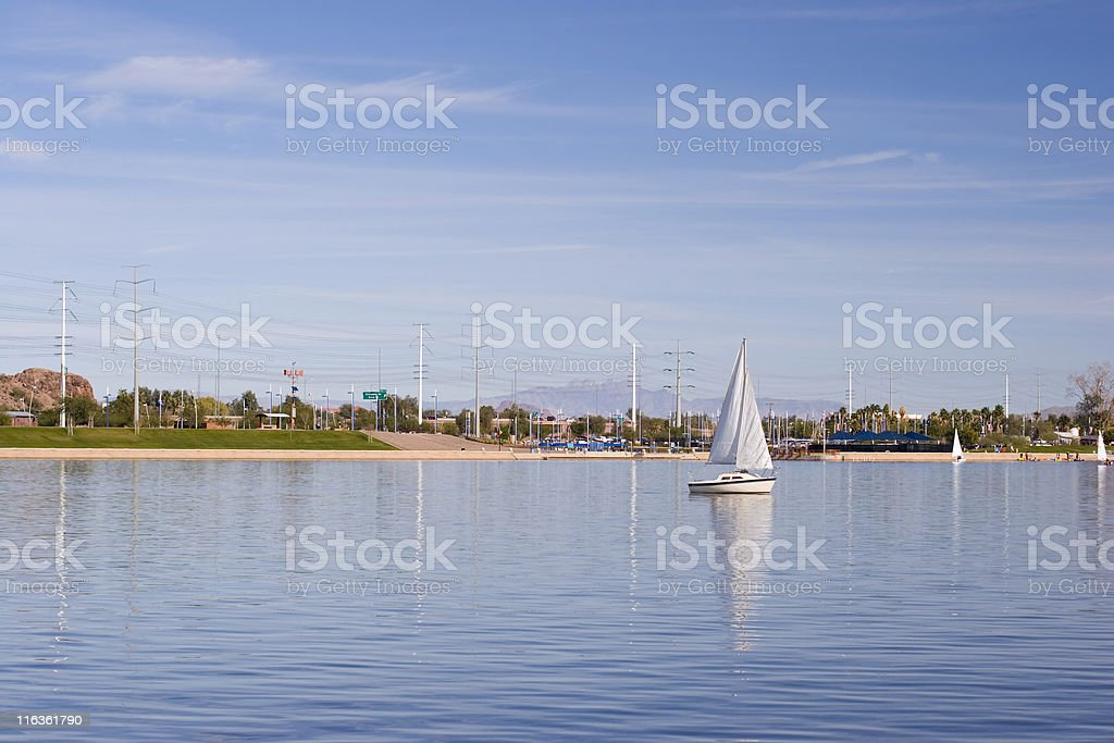 Tempe Lake, Arizona royalty-free stock photo