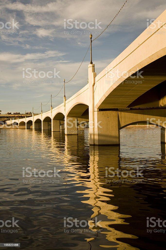 Tempe Mill Avenue Bridge stock photo