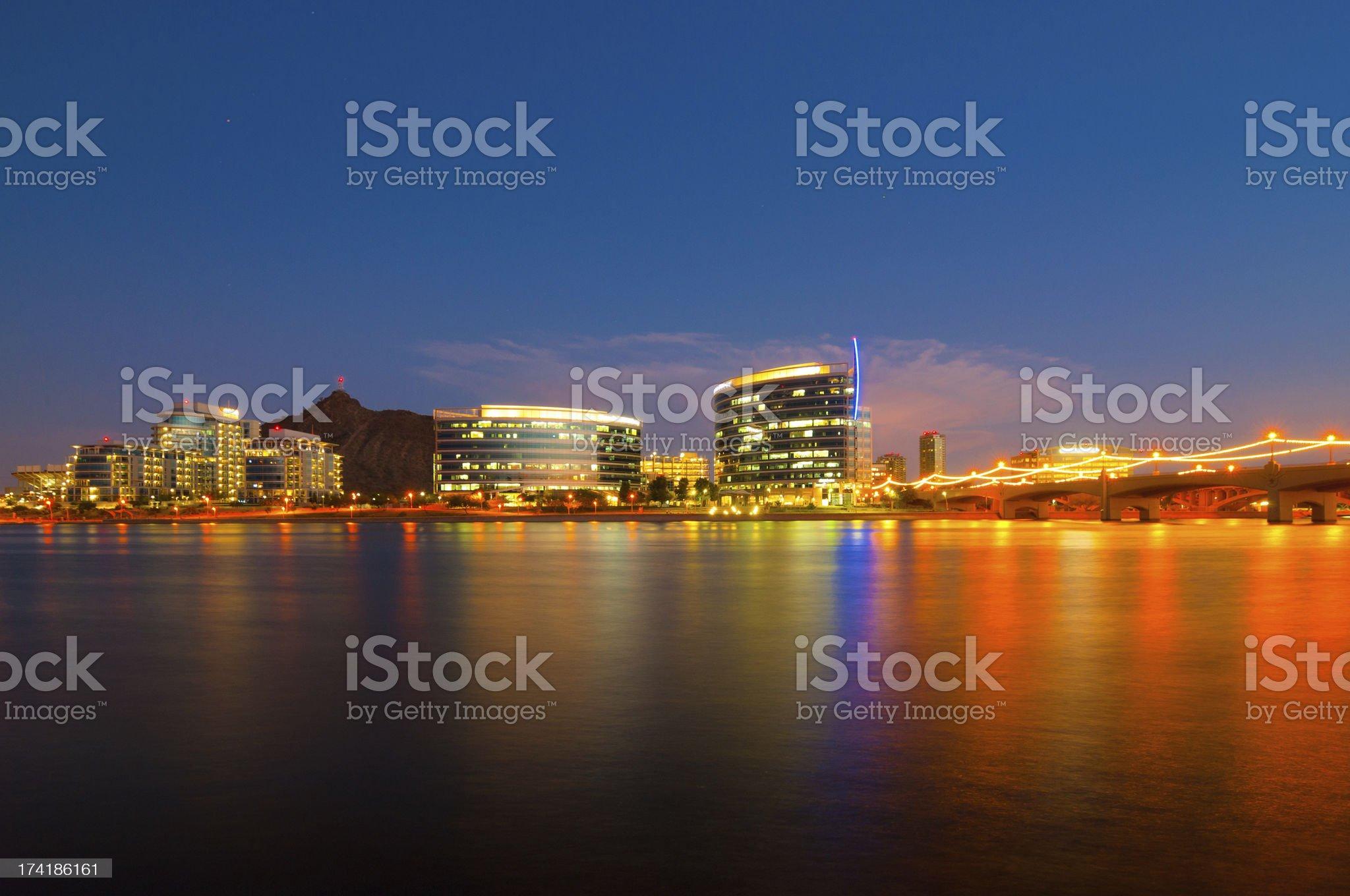 Tempe skyline at dusk royalty-free stock photo