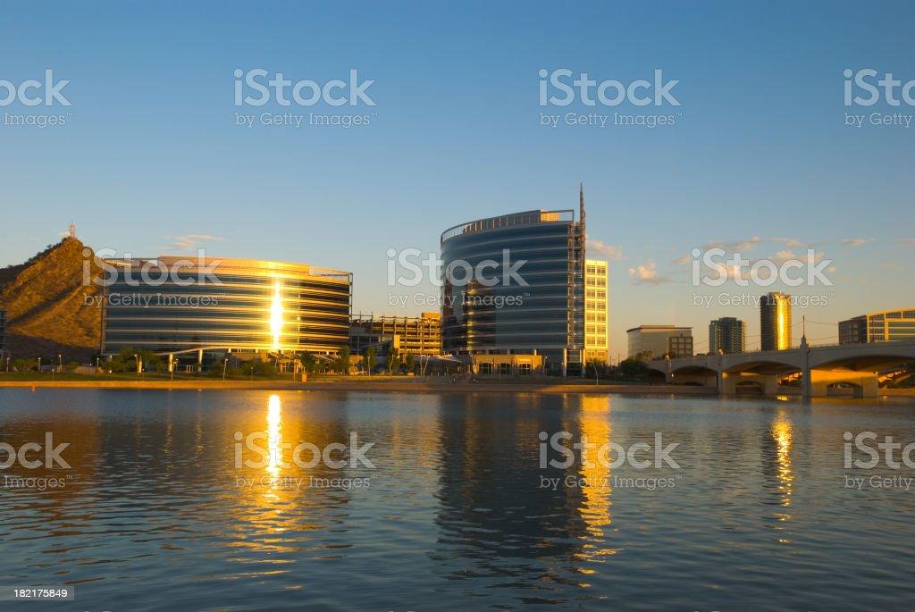 Tempe skyline royalty-free stock photo
