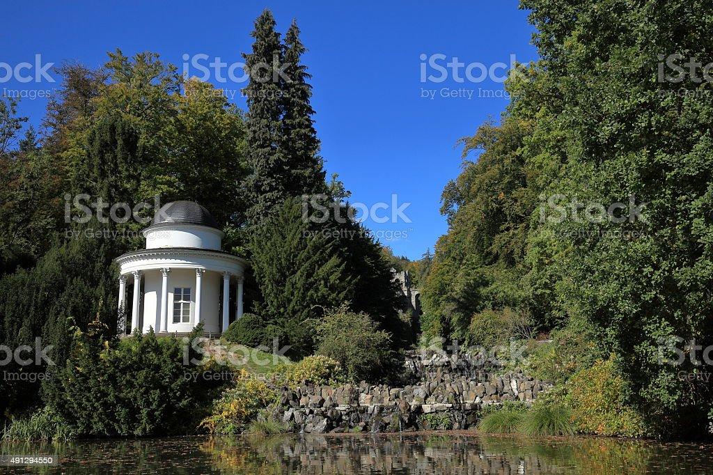 Tempel im Bergpark Wilhelmshöhe stock photo