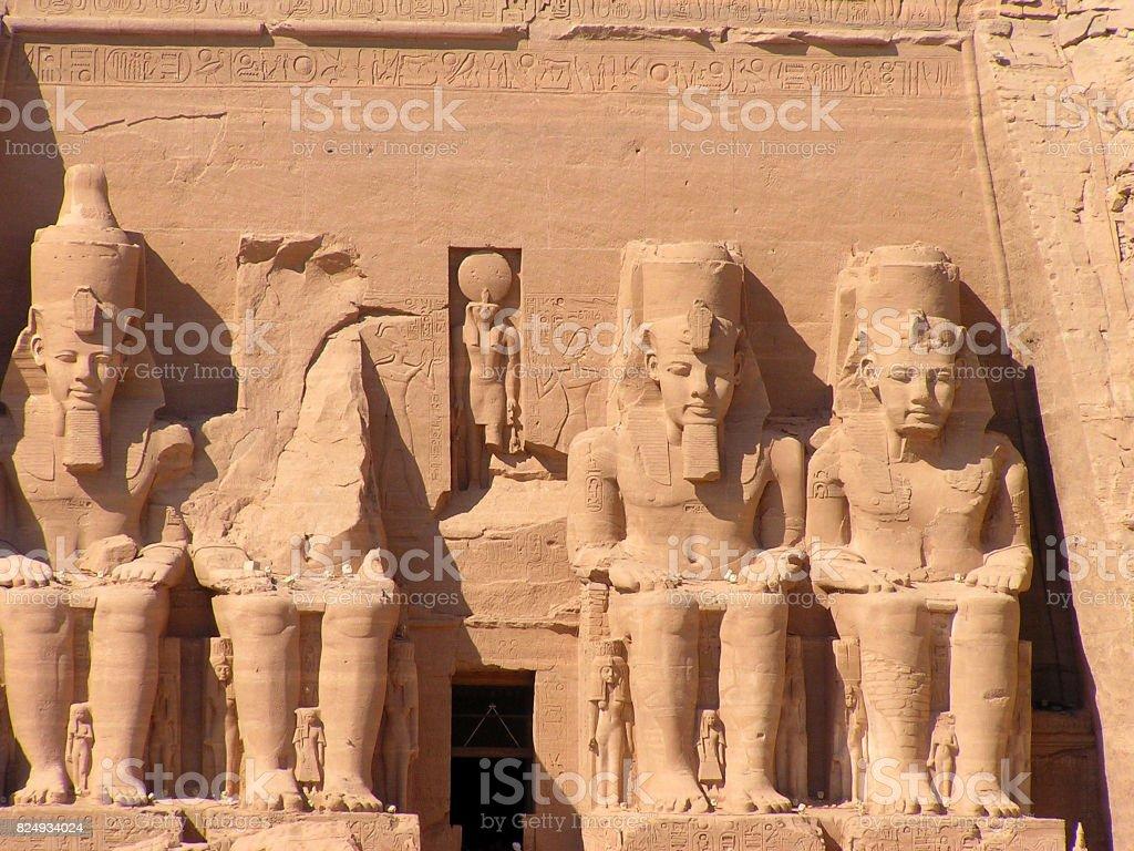 Tempel von Abu Simbel stock photo