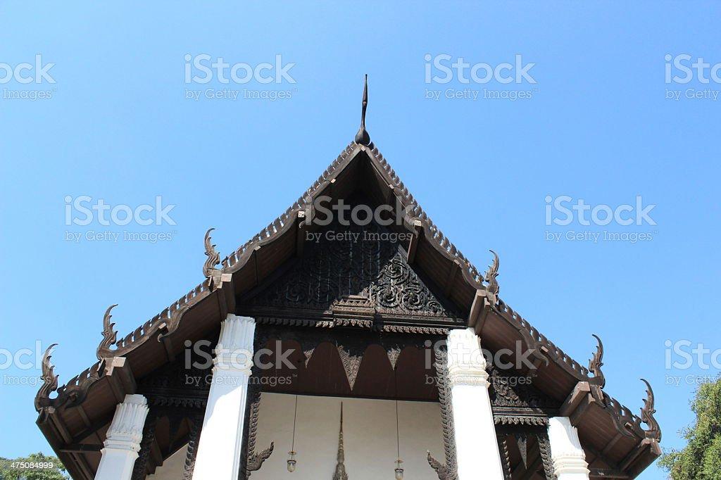 Tempeldach Thailand stock photo