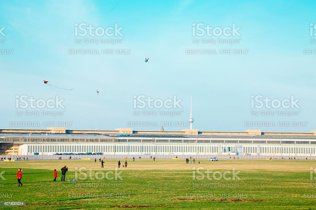 Tempelhof Airport, Berlin stock photo