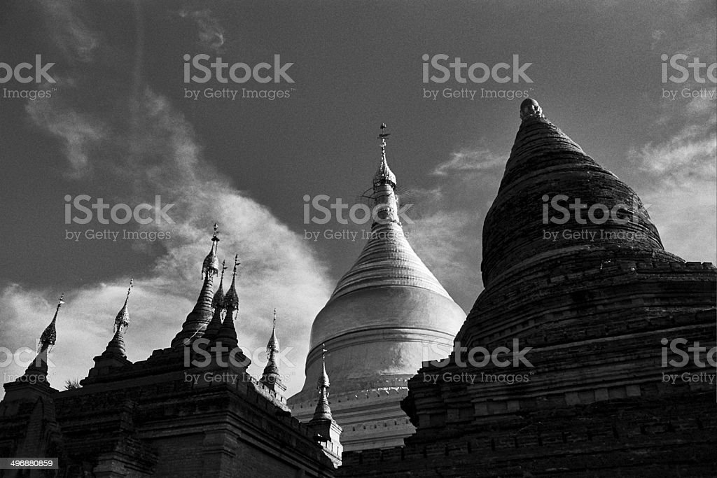 Tempels in Bagan, Birma stock photo