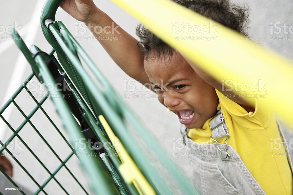 Temper tantrum royalty-free stock photo