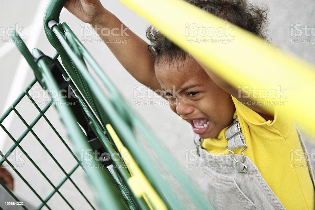 Temper tantrum stock photo