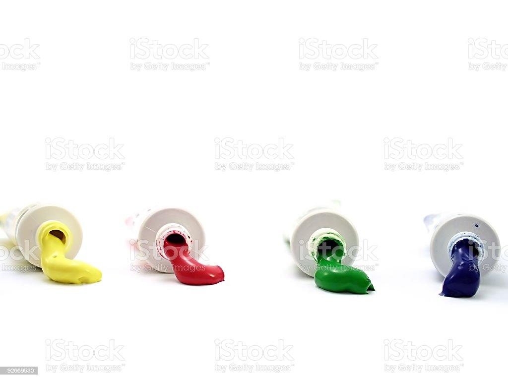 Tempera tubes royalty-free stock photo