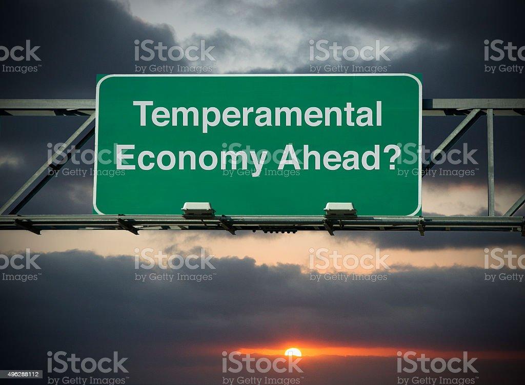 Temperamental Economy Ahead? stock photo