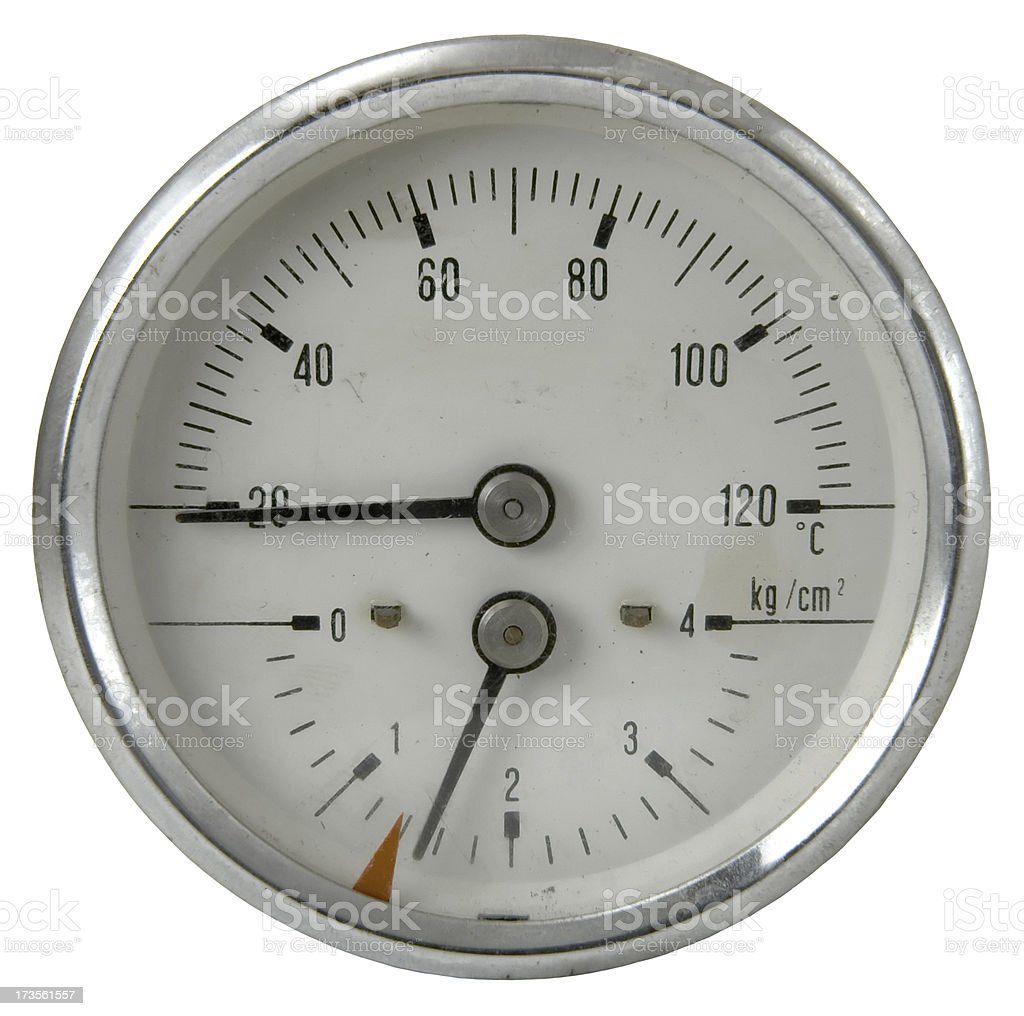 Temperature and volume gauge royalty-free stock photo
