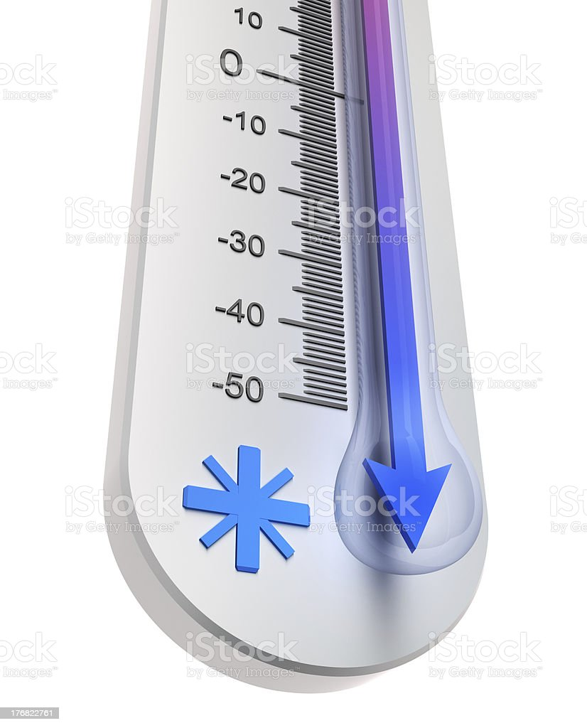 Temperature decline royalty-free stock photo