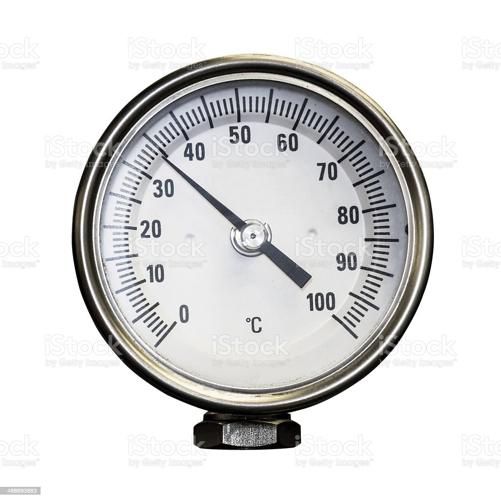Temperature gage isolated stock photo