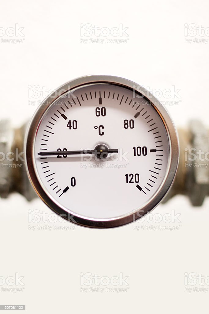 Temperature gauge stock photo