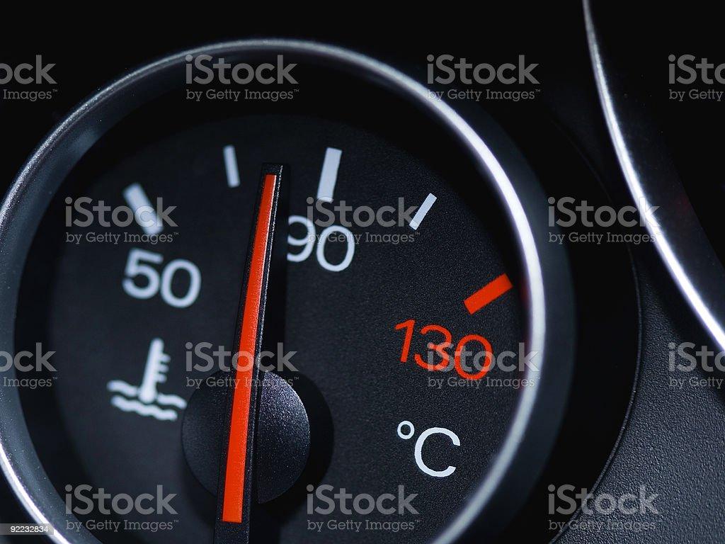 Temperature Guage stock photo