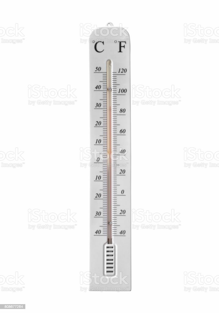 Temperature isolated on white background. with clipping path stock photo