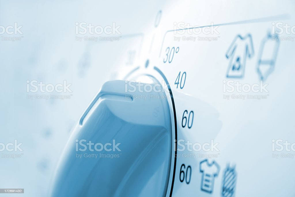 Temperature knob in the washing machine. royalty-free stock photo
