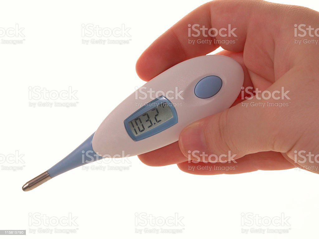 Temperature of 103.2 Degrees royalty-free stock photo