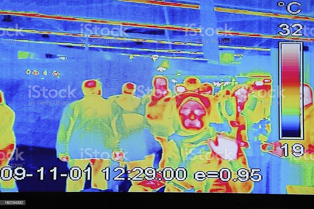 Temperature scanner stock photo
