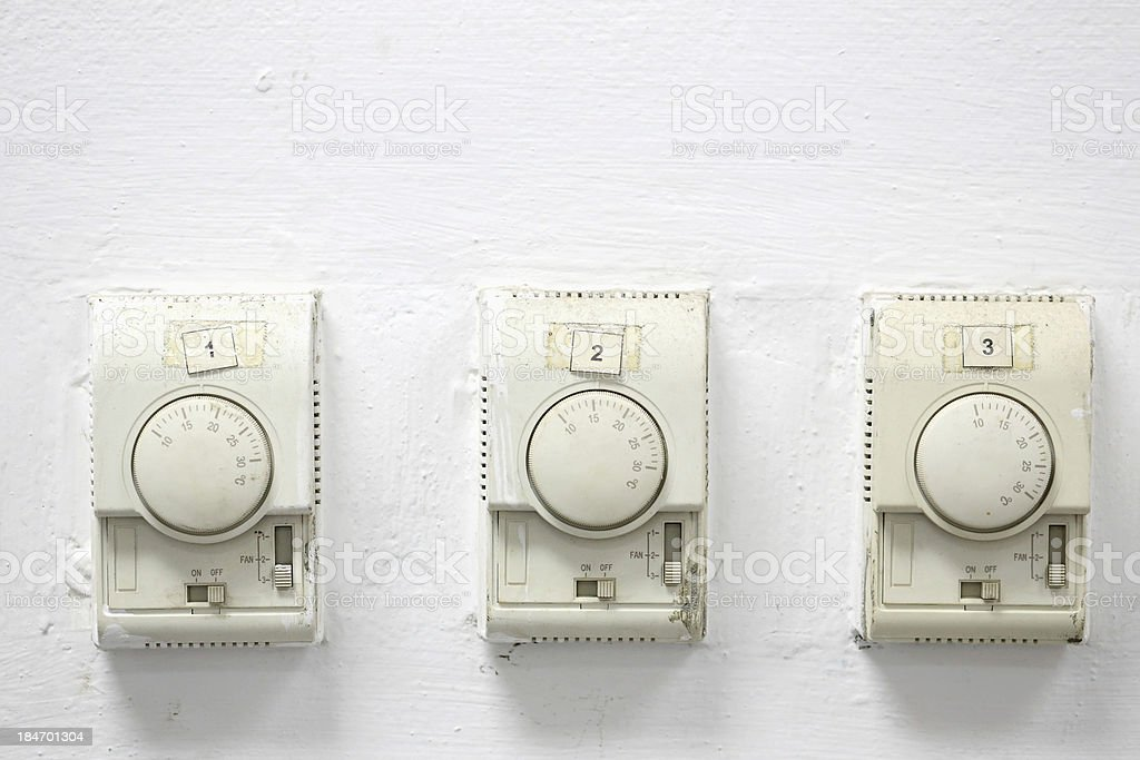 Temperature switch royalty-free stock photo