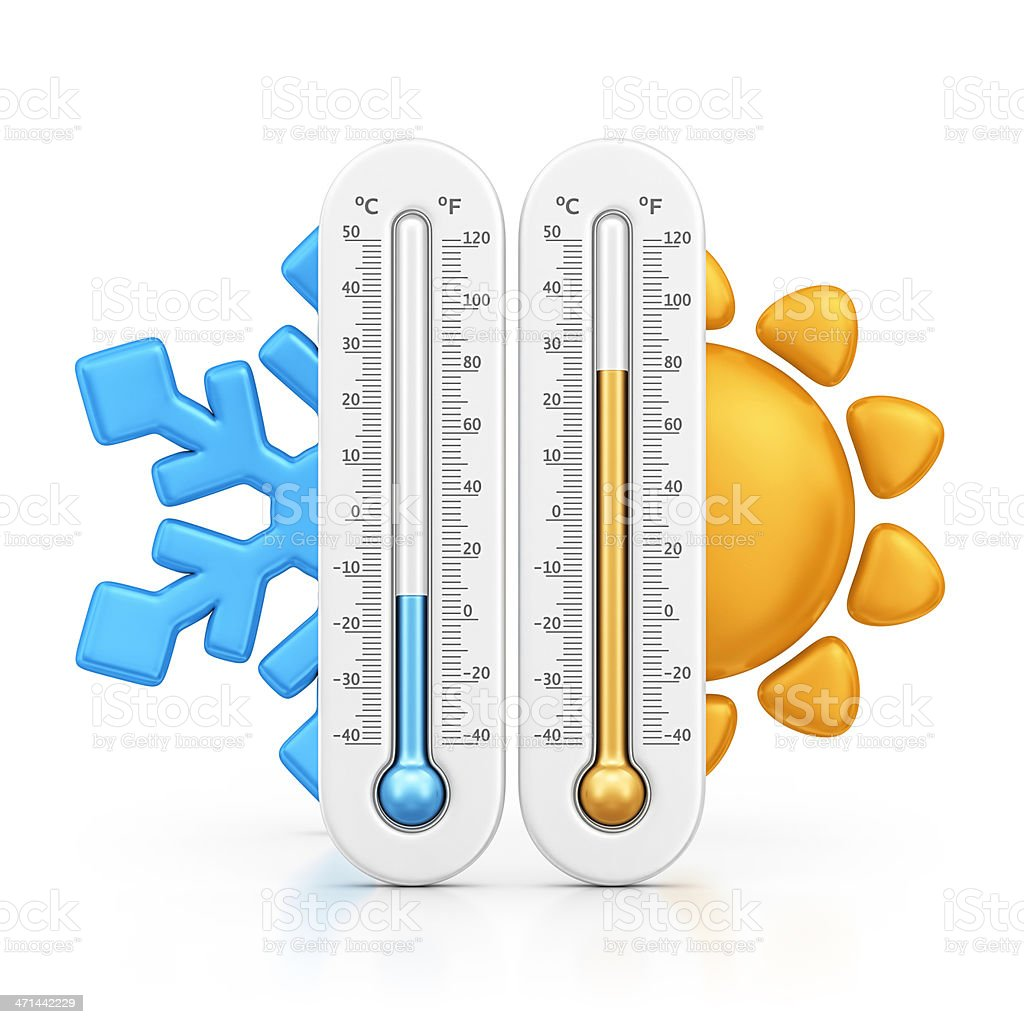 temperatures stock photo