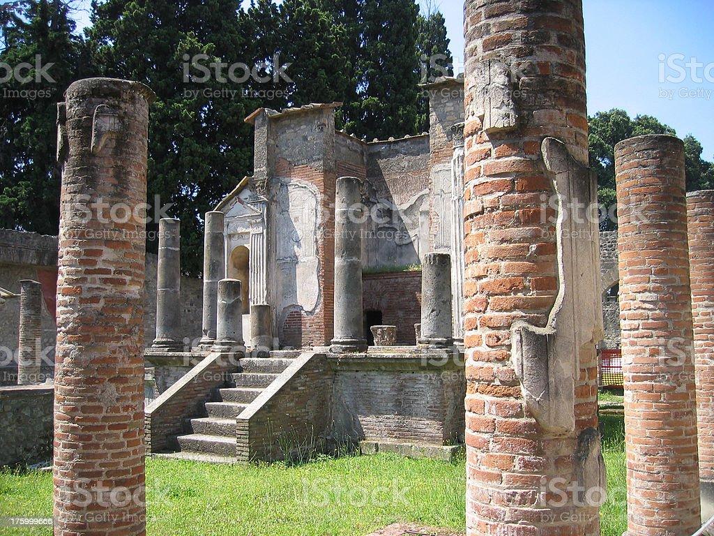 Tempio di Iside - Pompei, Italia royalty-free stock photo