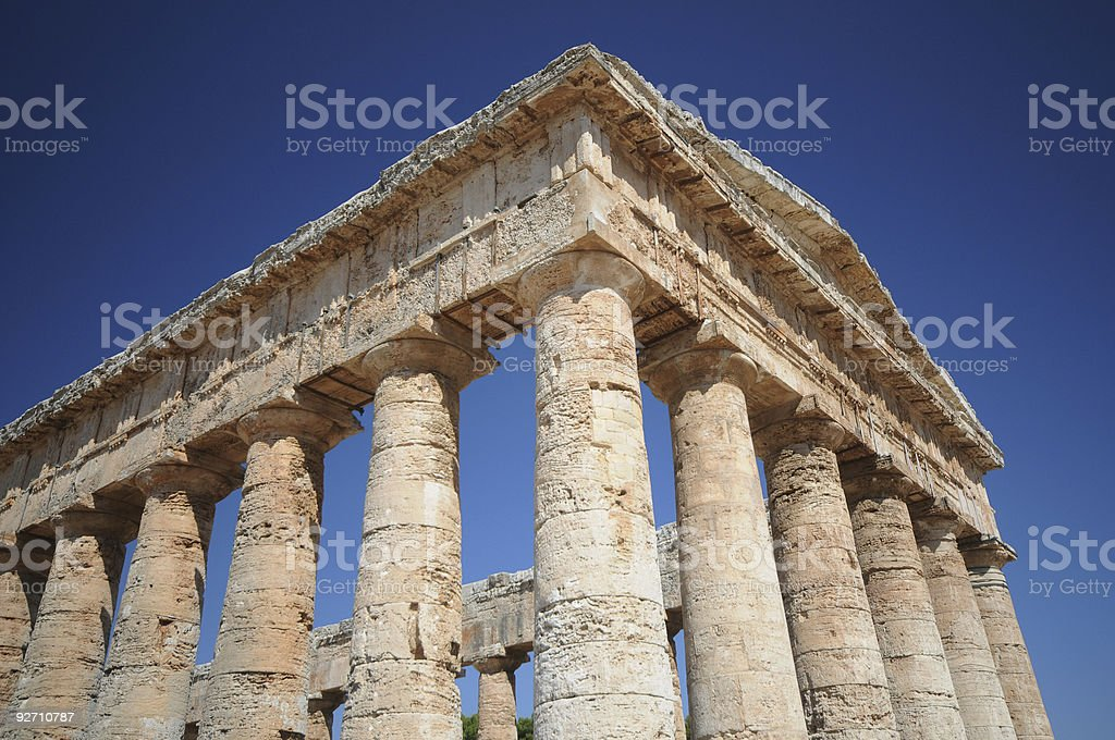 Tempio greco stock photo