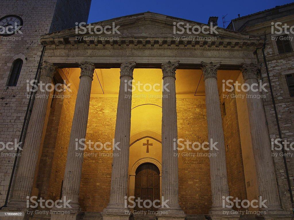 Tempiodi Minerva royalty-free stock photo