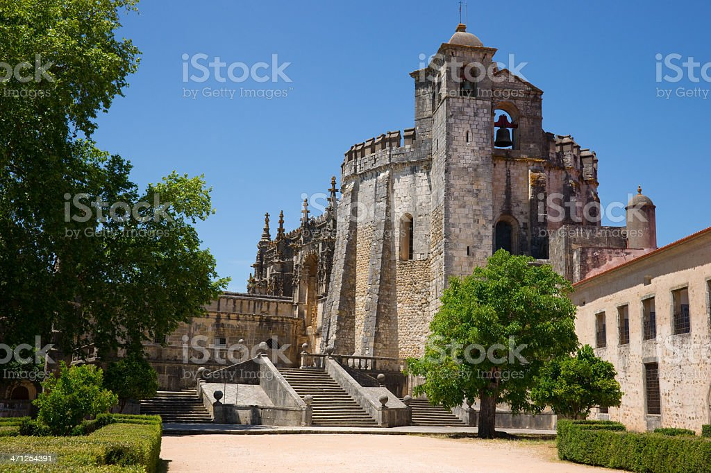 Templar Church Convent of Christ in Tomar, Portugal stock photo