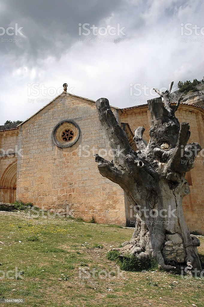 Templar church in Spain stock photo